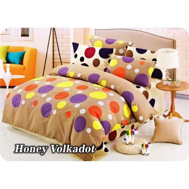 BED COVER SET FATA MINIMALIS MODERN HONEY VOLKADOT