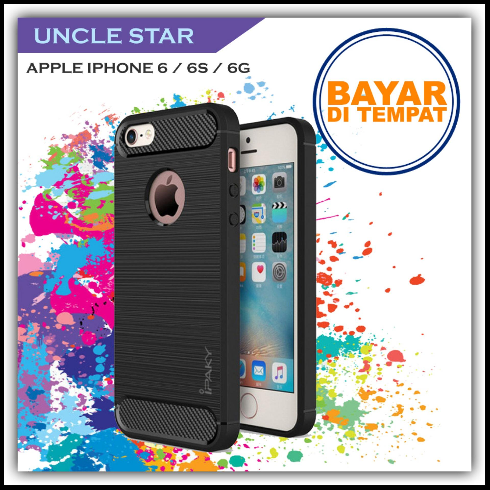 Uncle Star - Case Ipaky Carbon Fiber Shockproof Hybrid Elegant Case for Apple Iphone 6 / 6s / 6g
