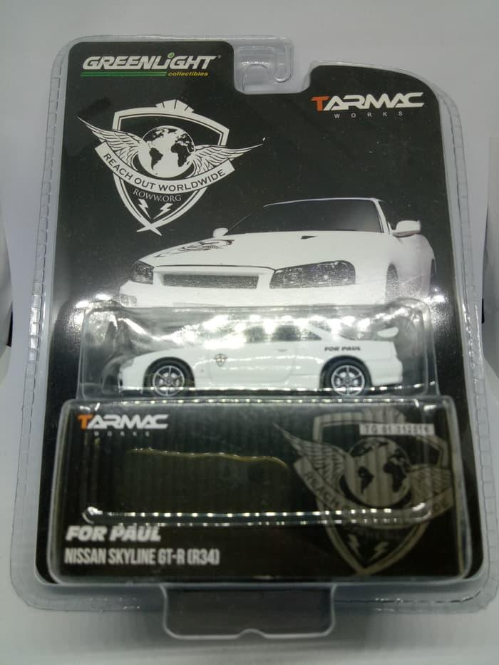 HARGA DISKON!!! Greenlight Diecast Tarmac Works Nissan Skyline GTR R34 For Paul - 5G8pgr