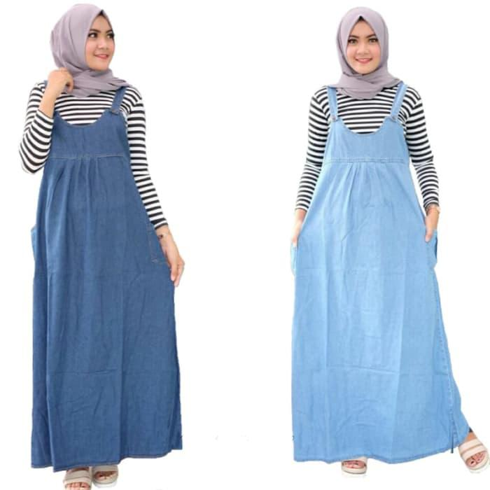 Yara overall jeans | gamis ibu hamil