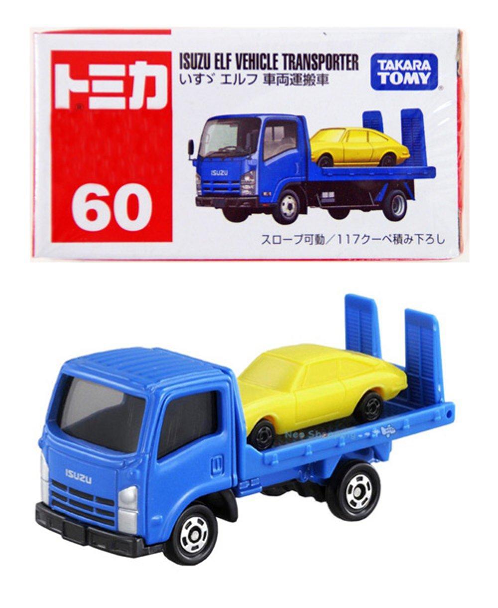 Tomica 60 Isuzu Elf Vehicle Transporter - biru # Andiarsi Toys andiarsitoys