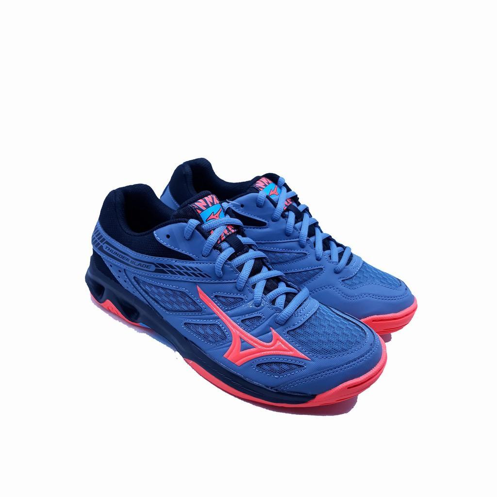 Sepatu Voli Mizuno Thunder Blade - Grey Pink a94fff2af8