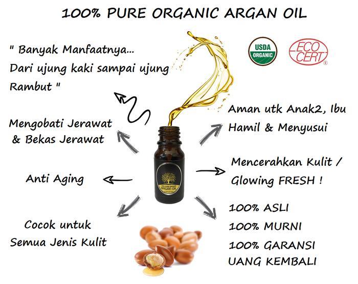 Minyak Argan / 100% Pure Organic Argan Oil - 10 Ml - ready stockIDR140000. Rp 161.000