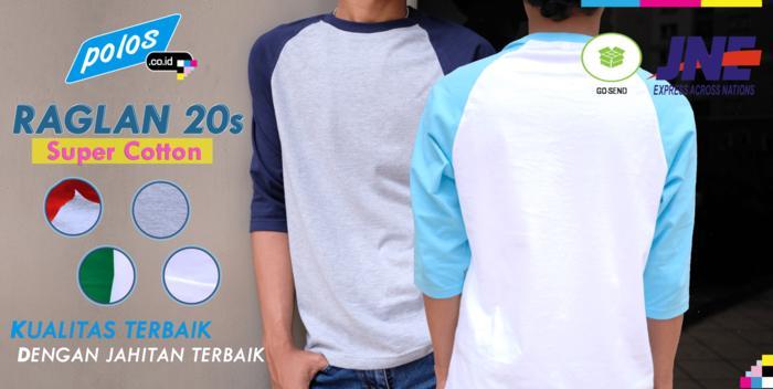 Kaos Raglan Polos Super Cotton 20s Ukuran XXXXL (4XL) JUMBO BIG SIZE / MD1090719