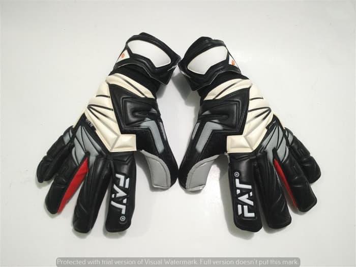 Sarung Tangan Kiper Gloves FAT Original Venom Altus - Black/Grey new