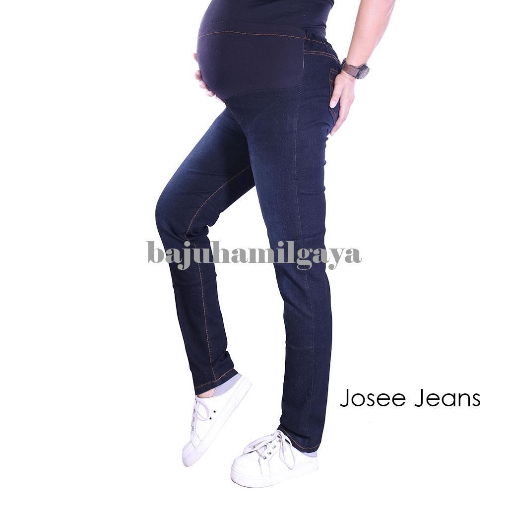 Baju Hamil Gaya - Celana Hamil - JOSEE JEANS BLACK - Celana Hamil / Celana Hamil Murah / Celana Hamil Harga Murah / Jeans Hamil / Jeans Ibu Hamil / Celana Hamil Jeans / Celana Kerja Hamil / Baju Hamil Murah / Baju Hamil Modis / Harga Murah / Jeans / Laris
