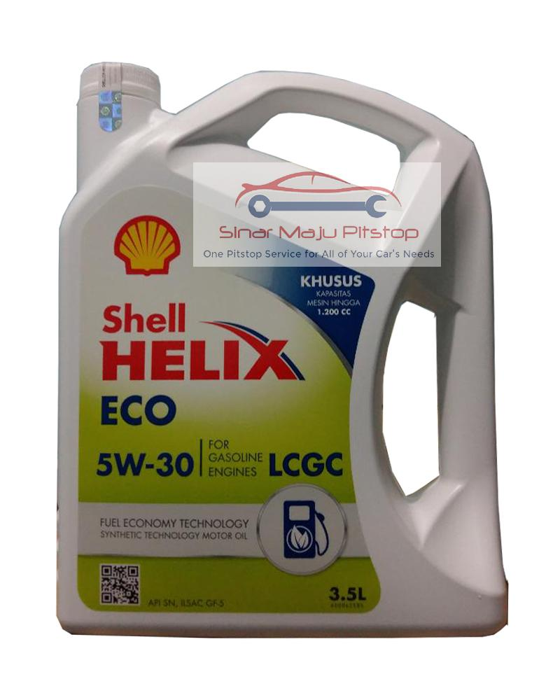 Shell Helix ECO Synthetic 5W-30 SEGEL HOLOGRAM ORIGINAL - GALON 3.5 LITER - Pelumas Oli Mesin Mobil LCGC & NISSAN MARCH 1.2 & KIA PICANTO 1.2