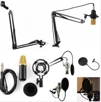 Paket Smule  Microphone Condenser BM800 + Stand Suspension + Pop Filter + Splitter