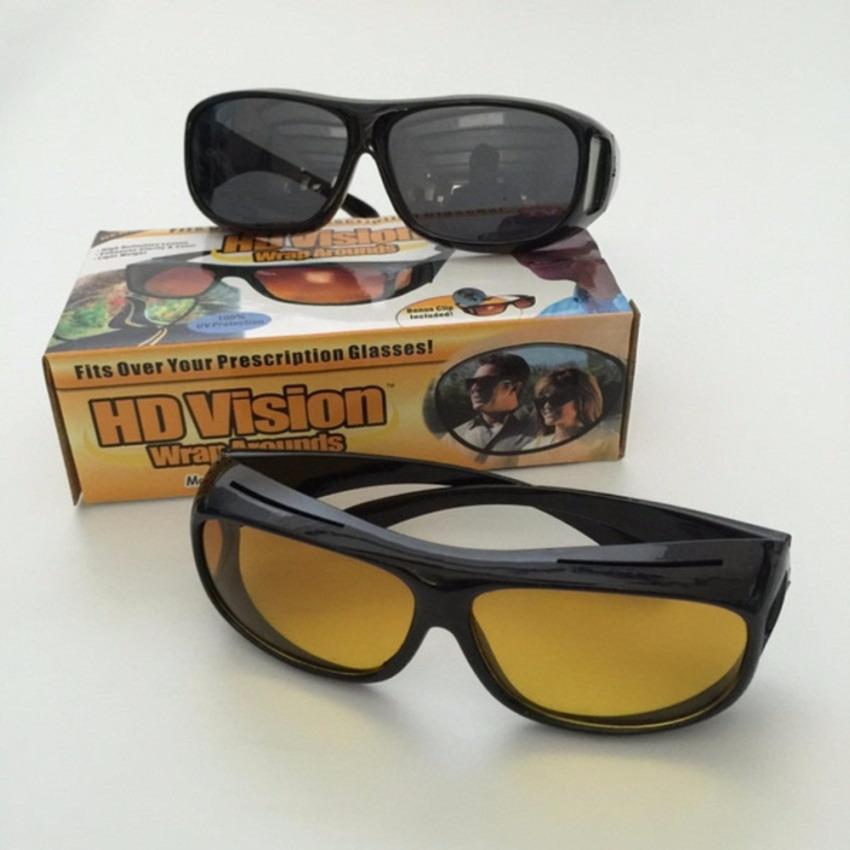 ASK Vision Kacamata Malam Menyetir HD Vision Siang Dan Malam 1Box Isi 2