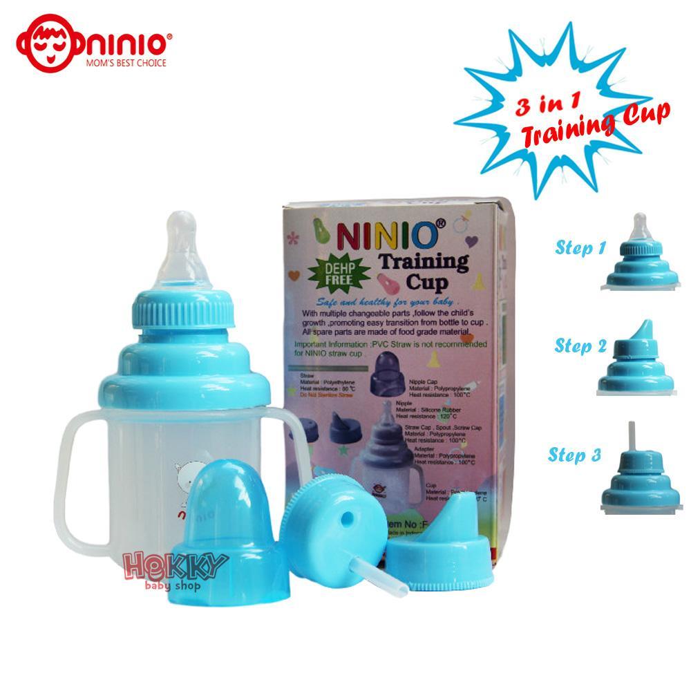 Botol Susu Bayi Terbaik Aman Nice Baby Dot 125 Ml Orange Ninio Training Cup 3 In