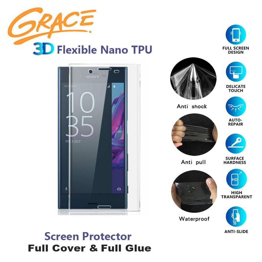 Grace ScratchProof Film for Sony Xperia XZ / F8332 - 5.2 inch - 3D Full Edge Screen Protector - Clear
