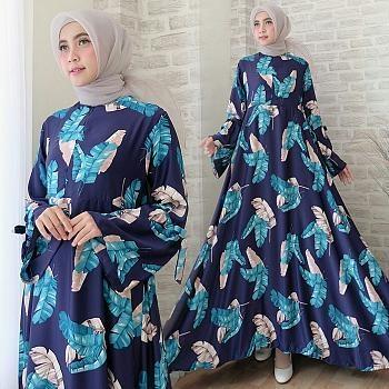 Vyshop Baju Muslim / Gamis Muslim / Dress Muslim / Busana Muslim / Tunik Muslim / Maxi Wanita fc maxi amika navy mus