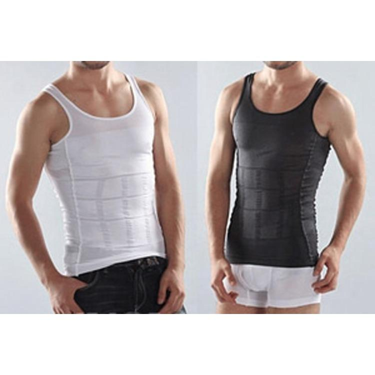 PADIe - Slim N Lift Body Shaping For Man Men HITAM/SLIMMING SHIRT FOR MEN/pakaian dalam pria/kaos dalam pelangsing pria/korset pria