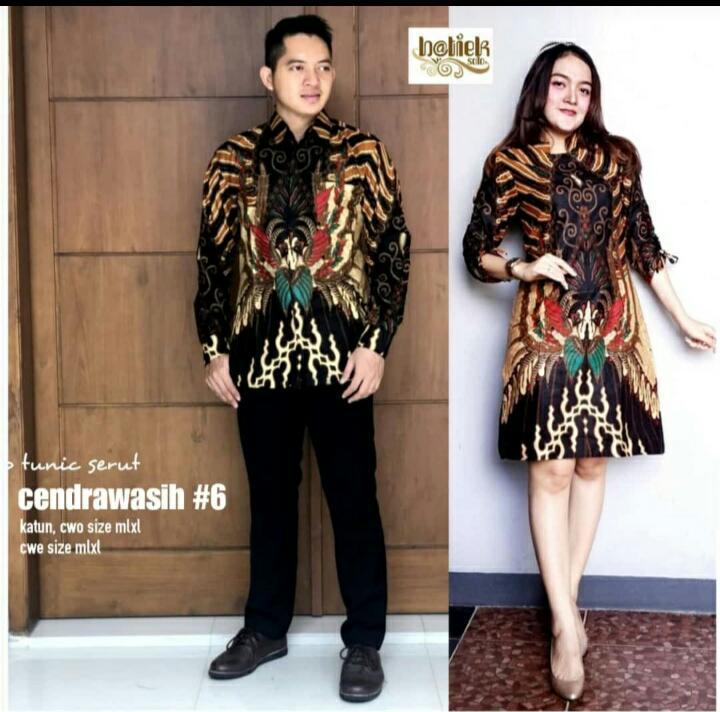Batik Couple Original Solo Tunic Santika Elang Sogan