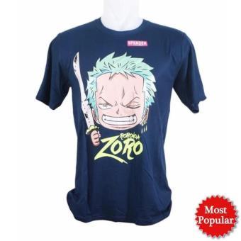 Kaos Pria / Distro Premium / T-shirt Cowok Anime One Piece Zorro Smile terbaik murah - Hanya Rp54.736