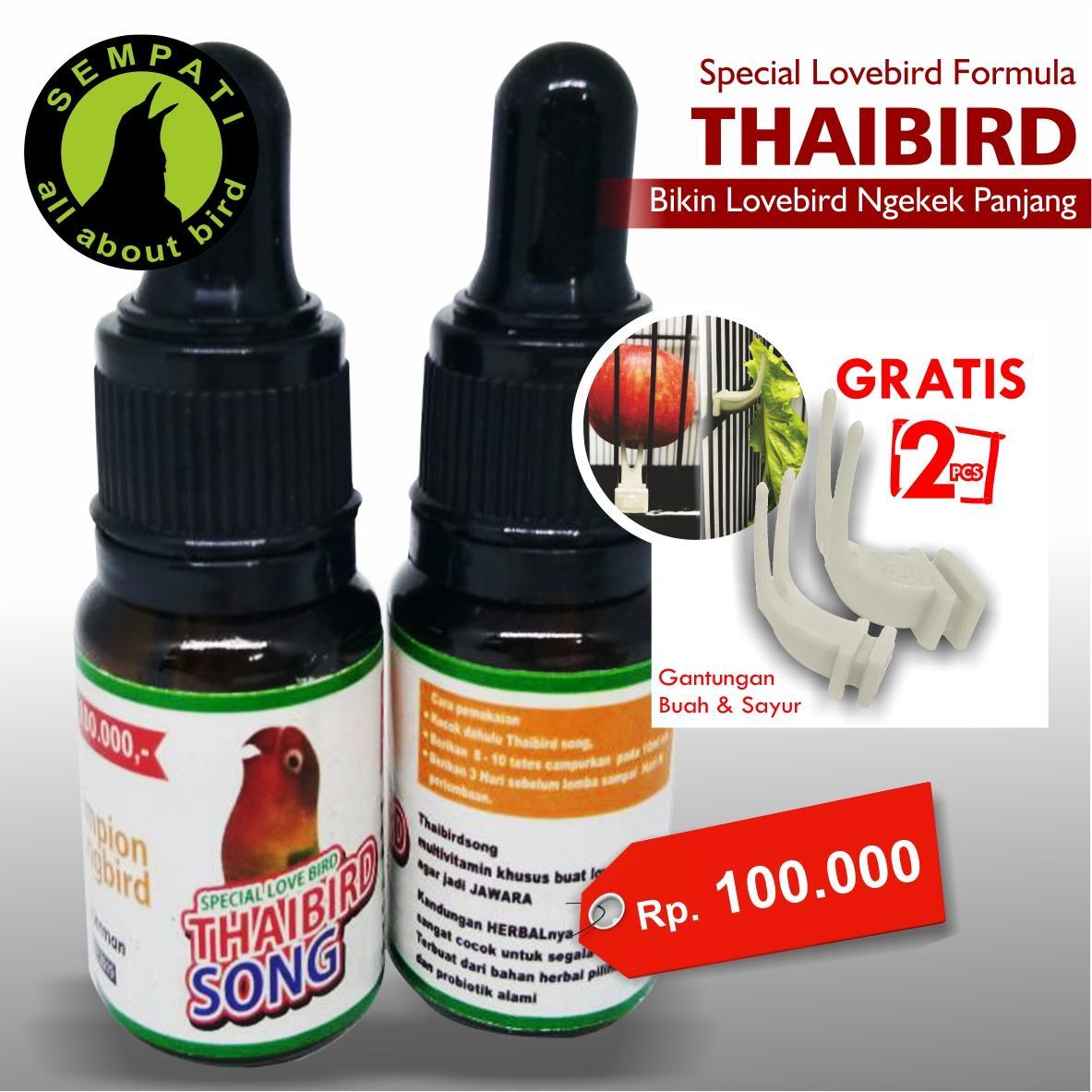 Thai Bird Song Champion Song Bird Vitamin Burung Lovebird Meningkatkan Stamina Ngekek Panjang