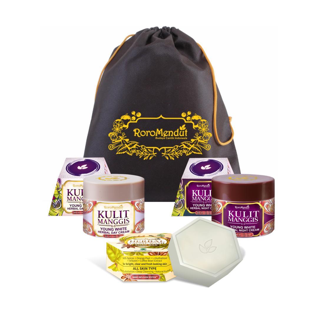 Roro Mendut paket starter kulit manggis - Anti aging, kerutan wajah dan flek