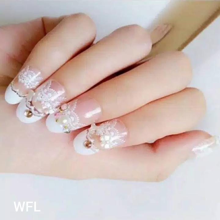 wedding party fake nails-kuku palsu pernikahan-aksesoris kuku dan nailart(di kirim