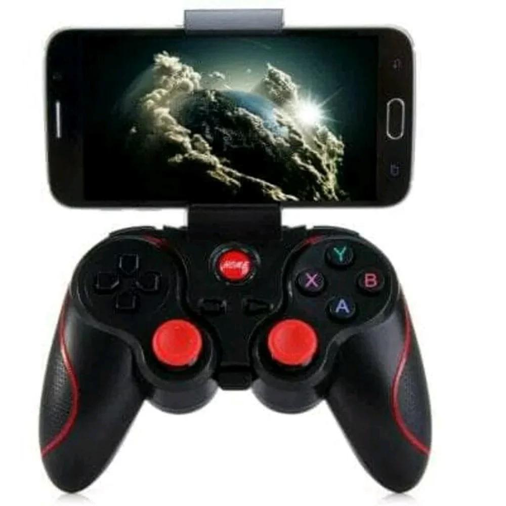 GAMEPAD BLUETOOTH PLUS HOLDER PENYANGGA HP - Gamepad Wireless X3 Bonus Holder Hp - Gaming Moba Stick Bluetooth X3