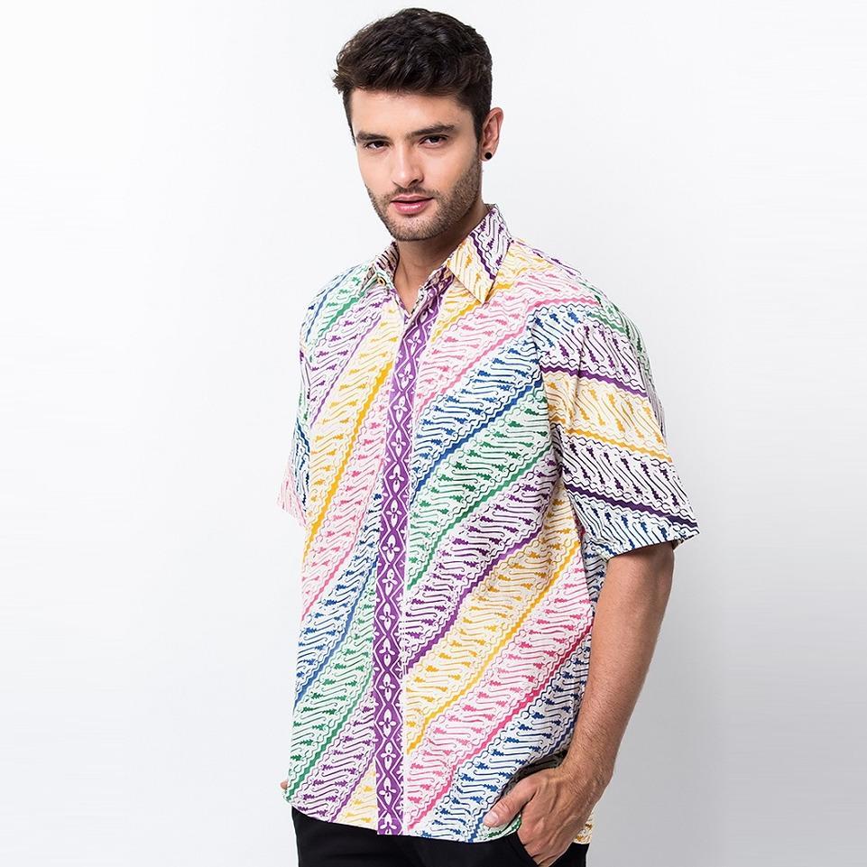 Baju Batik HEM Parang Pelangi Dengan Matrial 100% Katun