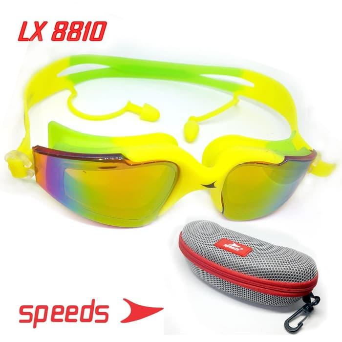 Kacamata Renang Swim Glasses Speeds Lx 8810 Bahan Kaca Riben Elastis By Lbagstore2.