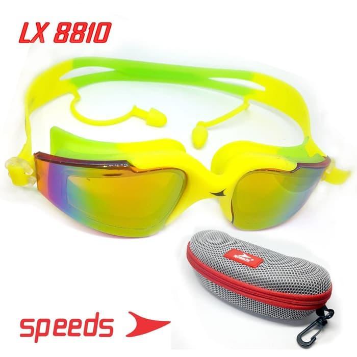 Kacamata Renang Swim Glasses Speeds Lx 8810 Bahan Kaca Riben Elastis By Lbagstore2