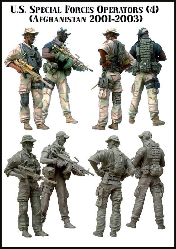Diskon 10%!! Em- 35054 - U.S.Special Forces Operators (Afghanistan 2001-2003) - 4 - ready stock