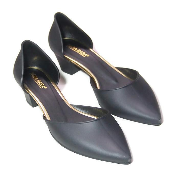 Bara Bara - Sepatu Balet Jelly Hak Wanita Polos 273 Warna Dikirim Random