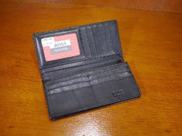 HARGA DISKON!!! Dompet Pria Panjang Import Hugo Boss Dp1603-08 Black Murah