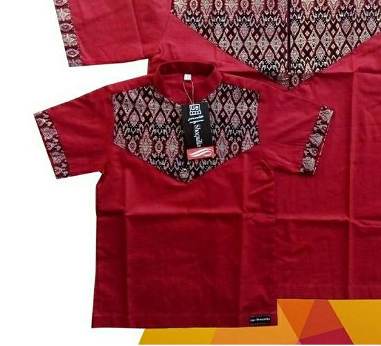 Baju Koko Anak Ayah Couple Termurah - Maroon