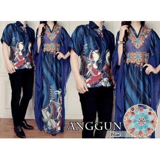 Couple Gamis Anggun Trendi Masa Kini - Biru