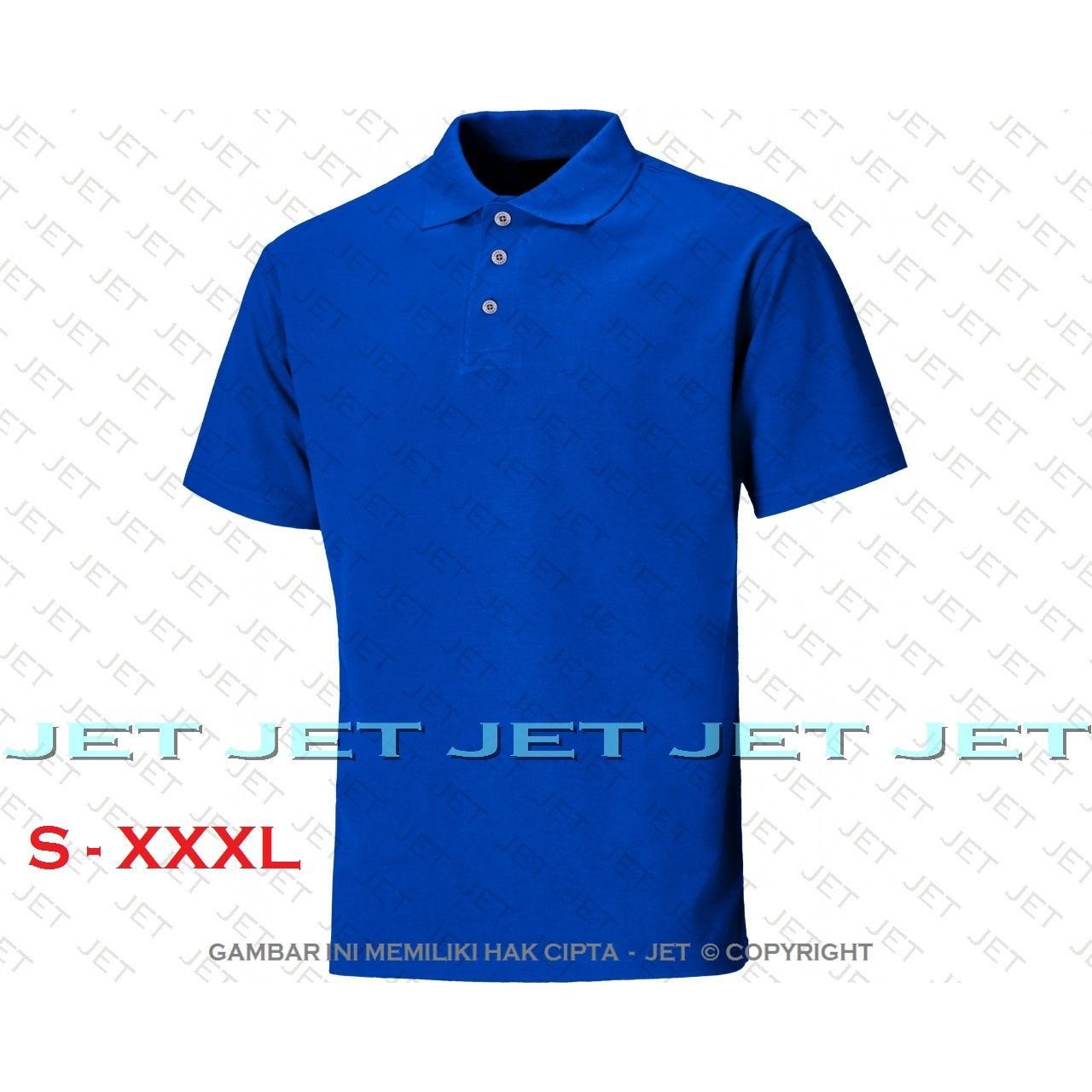 JET POLO - S M L XL XXL XXXL 2L 3L 22 WARNA Polo Shirt Kaos Distro T 5175630761