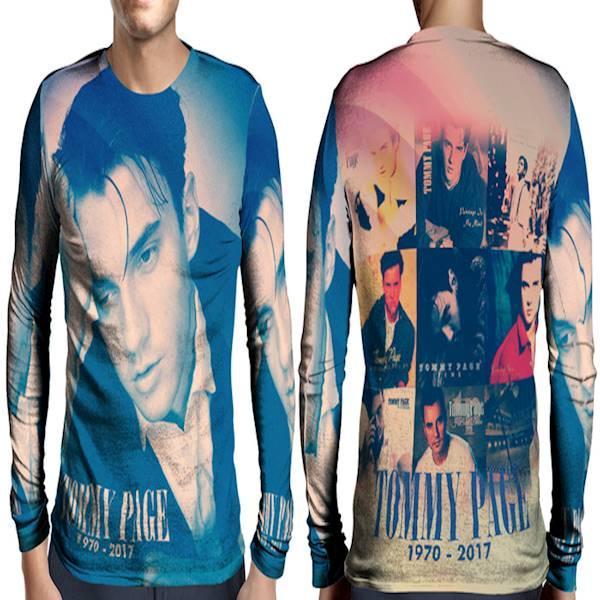 Kaos T-Shirt Lengan Panjang Full Print Custom Tommy Page Art 7