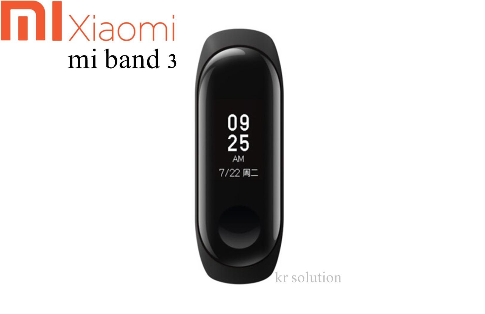 Xiaomi Mi band 3 OLED Heart Rate Monitor Bluetooth 4.2 Smart Bracelet Wristband Original (Chinese Version)