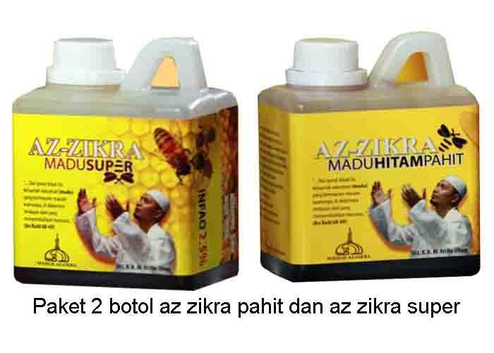 Paket 2 Botol Madu Super Az Zikra Dan Madu Az Zikra Pahit - isi 500gr