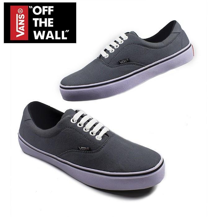 Vans-Sepatu Casual Pria dan Wanita Sepatu Sneakers Vans Era Authentic Warna Grey