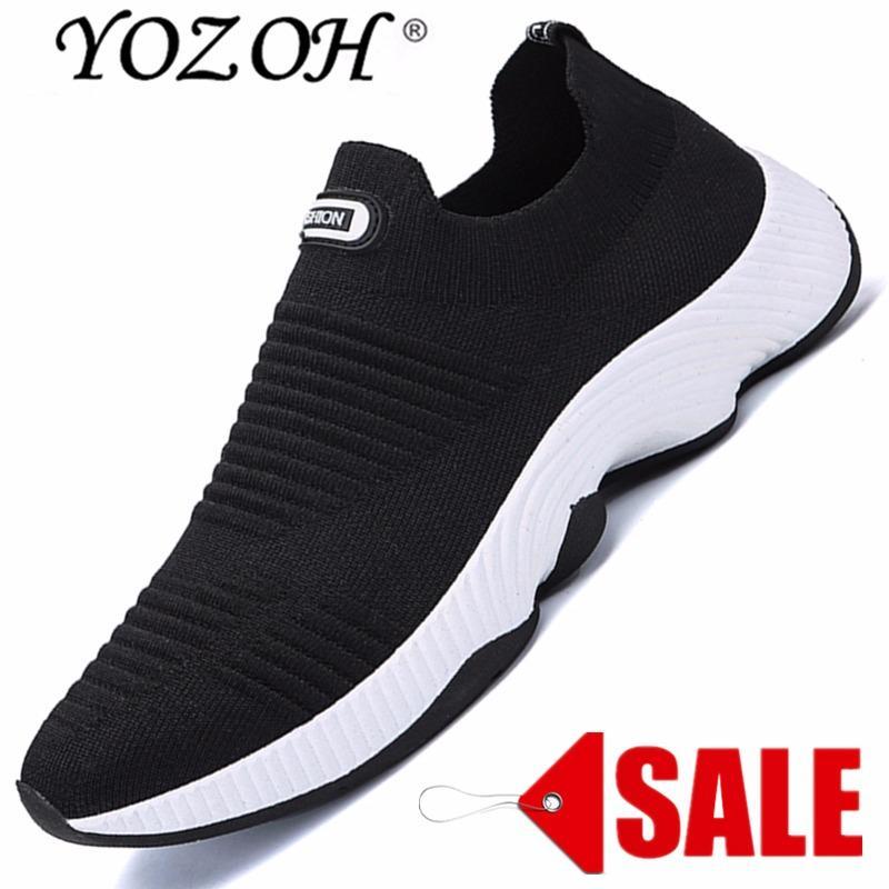 YOZOH Menjalankan Sepatu For Pria Mesh Bernapas Olahraga Sepatu Pria Tinggi Meningkatkan Sneakers Pria English. Cahaya Sepatu Olahraga-Intl