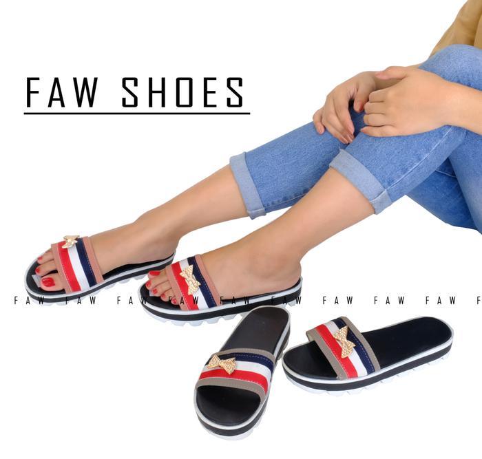 ... Khalista Collection Fllat Canvas Source Sepatu Flat Shoes Casual Jeans Navy