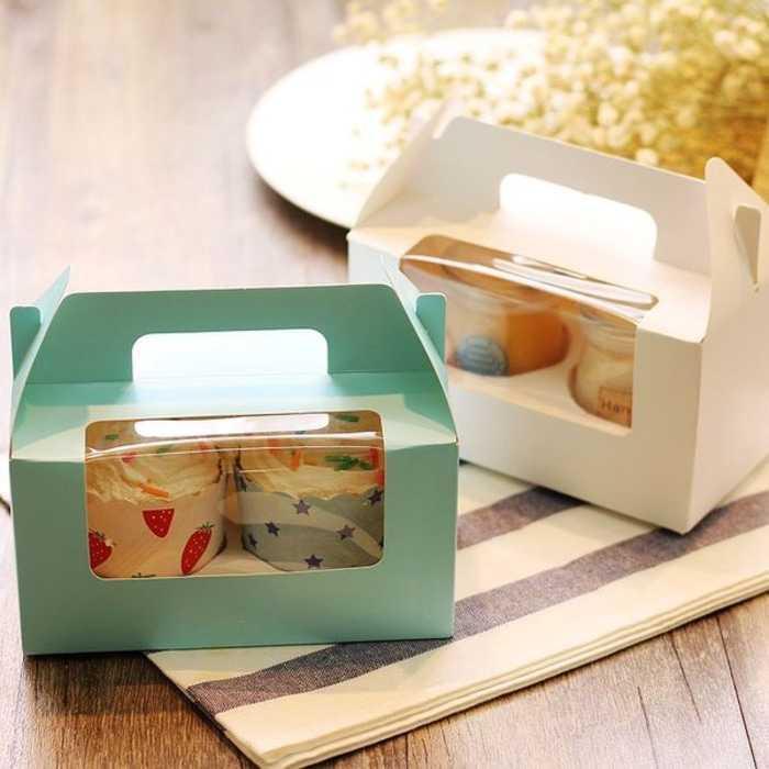 BEST SELLER box kue dus cupcake cake kue kering packing karton bolu roti cupcake HARGA TERMURAH