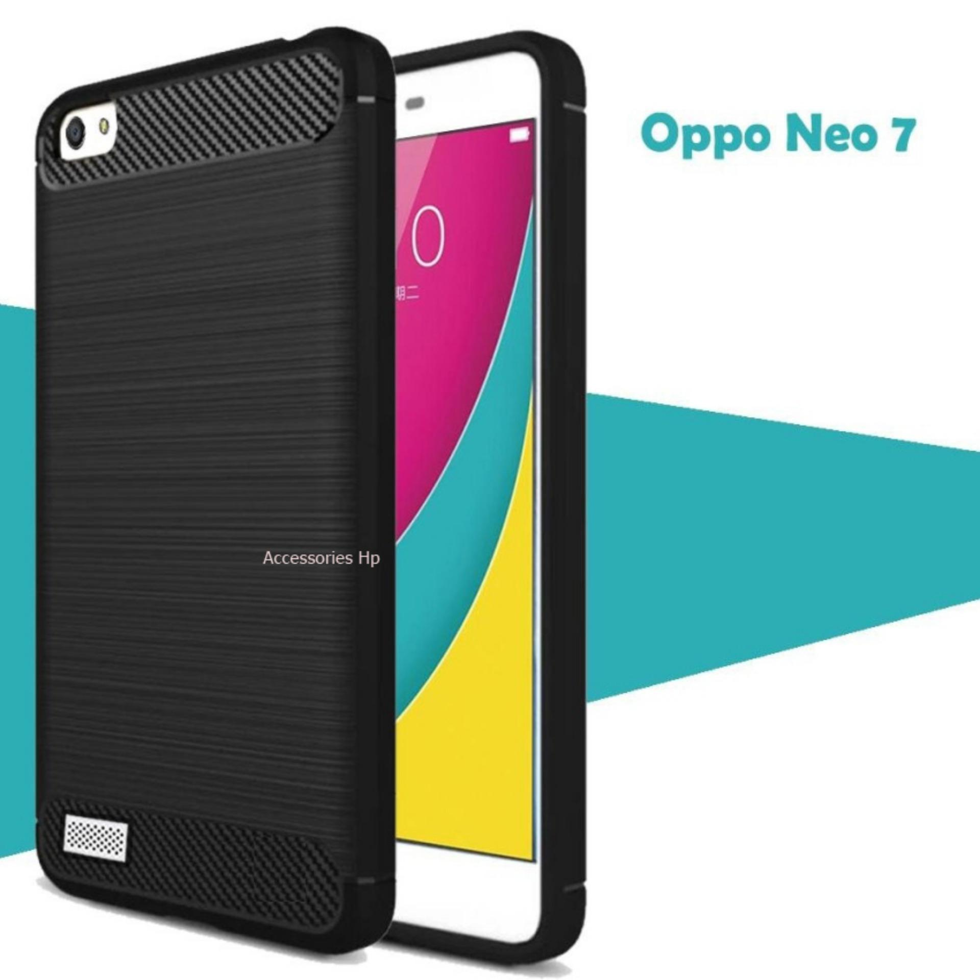 Accessories HP Premium Quality Carbon Shockproof Hybrid Case for OPPO A33 / Neo 7 - Black