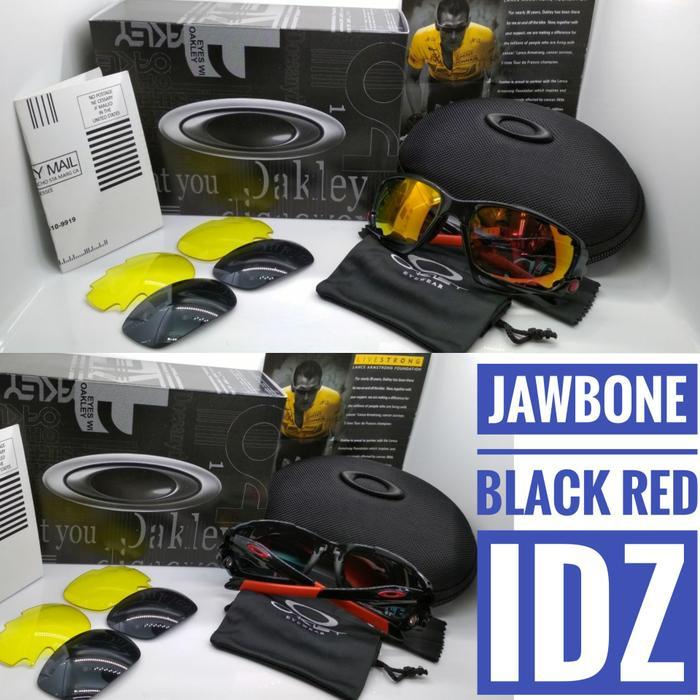 Oakley Jawbone Black Ducati Kacamata Pria Sepeda - 0H0qaf
