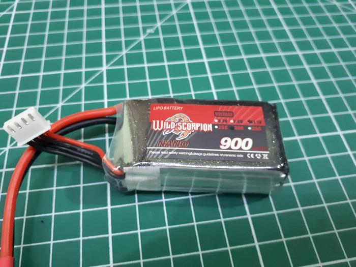 Hemat 10%!! Baterai Wild Scorpion 3S 900Mah 30C Xt60 Connector - ready stock