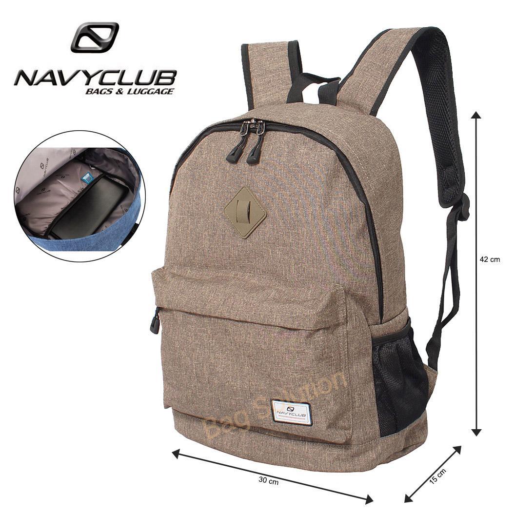 Navy Club Tas Ransel Laptop Kasual Tas Sekolah - Tas Pria Tas Wanita Tas Laptop Trendy EIBB Backpack Up to 14 inch Daypack