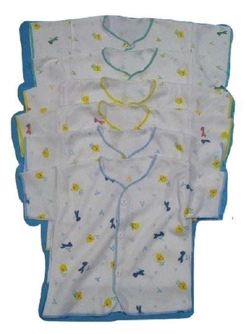 Baju Bayi Lengan Pendek Tanaka SNI 0-6 Bulan (1/2Lusin / 6Pcs)