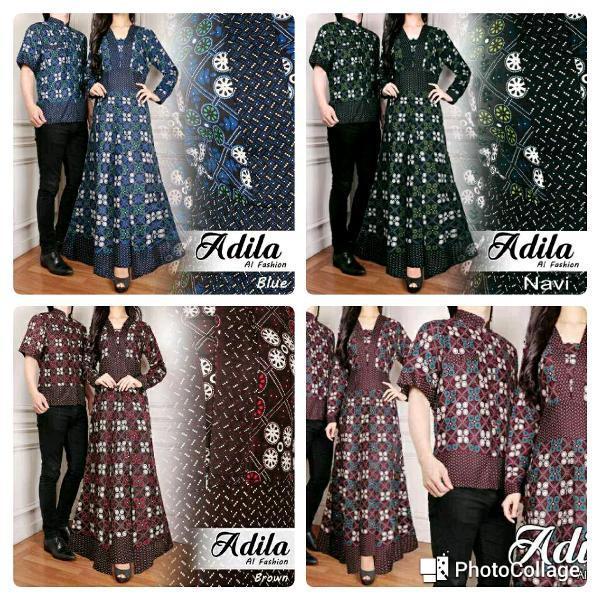 Promo Hari Ini Atk Cp Rahma Cream Couple Pasangan Samaan Kembaran Baju Muslim Maxi Kemeja Batik