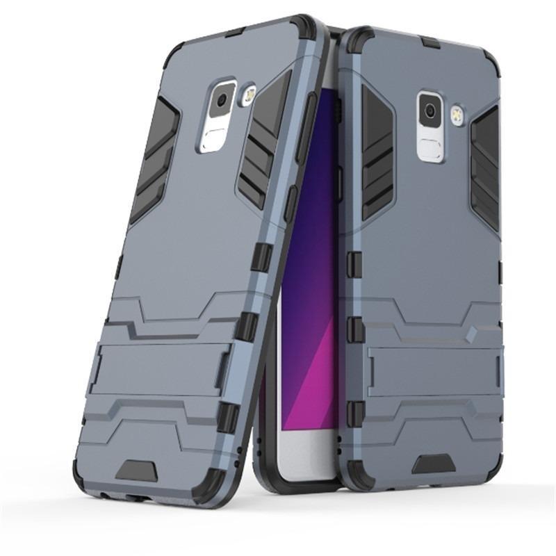 Accessories HP Transformer Rugged Kickstand Slim Armor Hardcase for Samsung Galaxy A8 2018