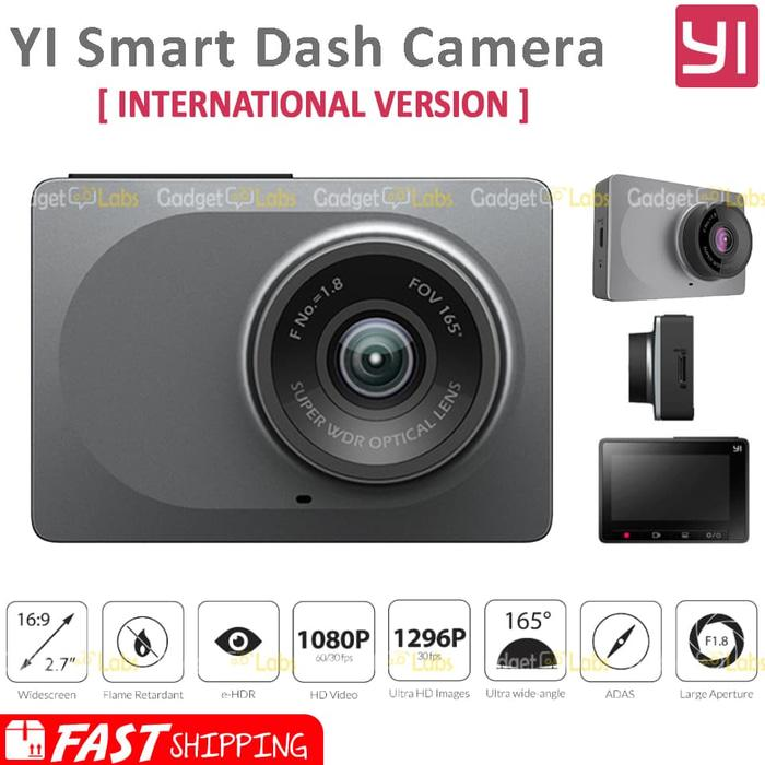 Xiaomi Yi Smart Car DVR WiFi Dash Cam International Version - Grey Terlaris di Lazada