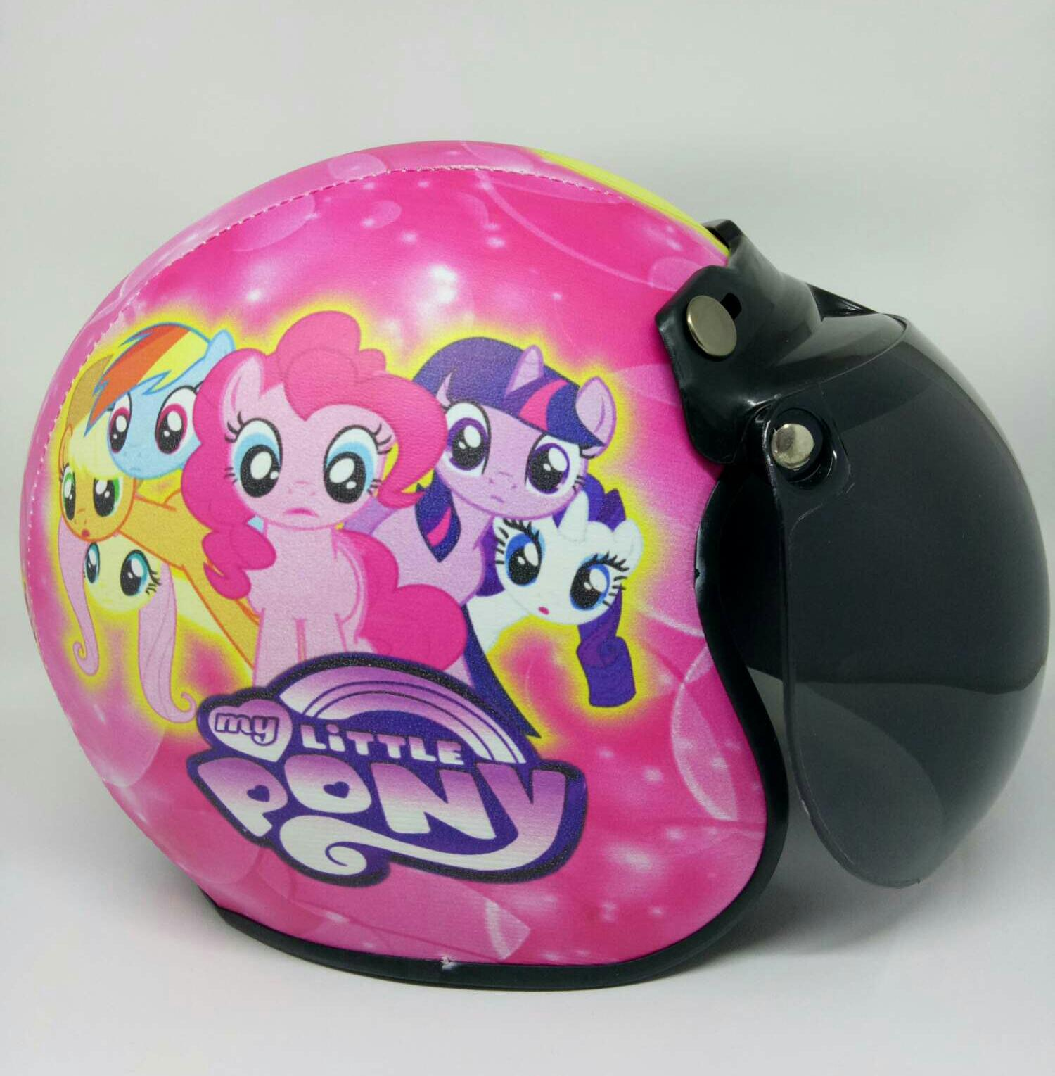 Helm Bogo Anak 2-10 tahun Motif Littlepony Pink Kaca Anak
