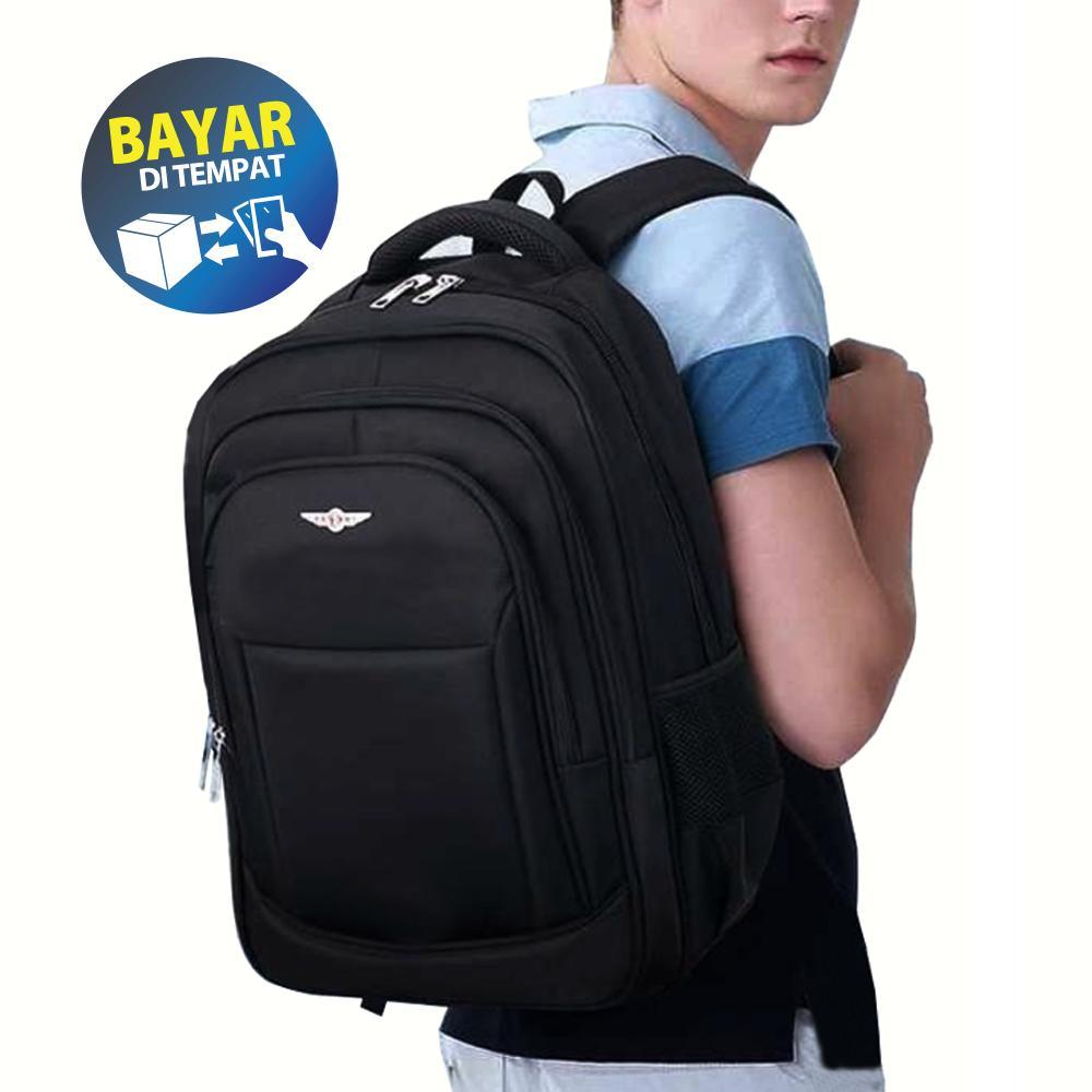 Tas Ransel Pria - Tas Ransel Laptop Pria Wanita Polo Legend LLC6922 Black -  Backpack Expandable eb93603eb3