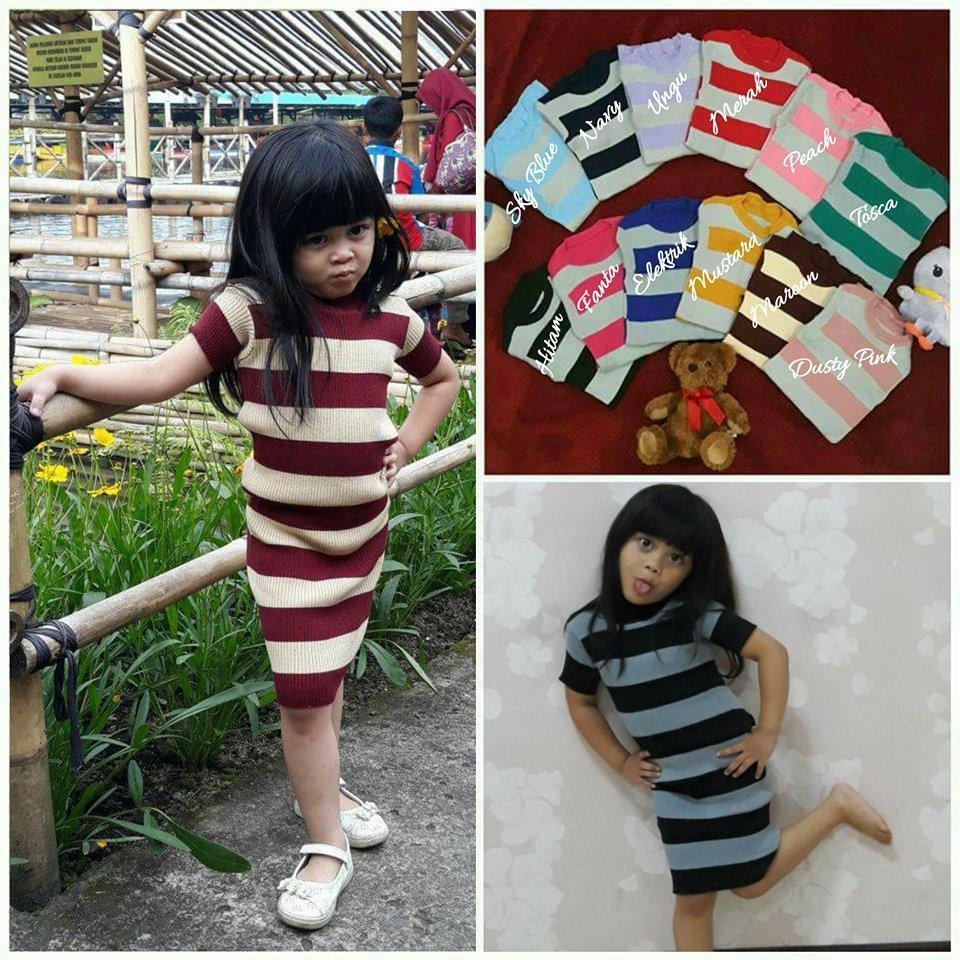 kalila Blaster Baju Rajut Anak anak dress murah atasan panjang wanita  pakaian Anak perempuan 2 - ab56a9e4be